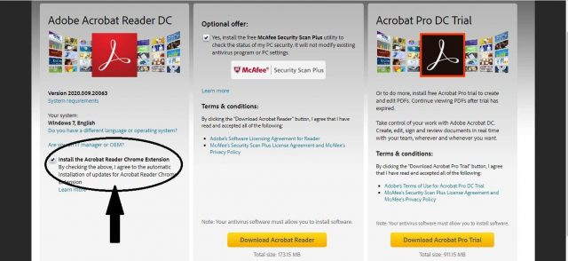Install the Acrobat Reader Chrome Extension