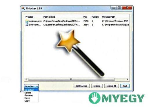 تحميل برنامج حذف الملفات المستعصية unlocker 9.0 عربي ماي ايجي