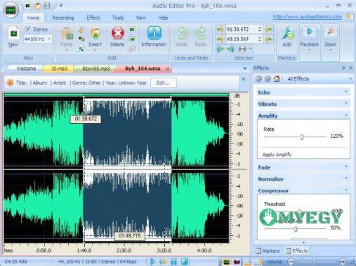 برنامج تسجيل الصوت بجودة عالية مع اضافة تأثيرات عليه myeg